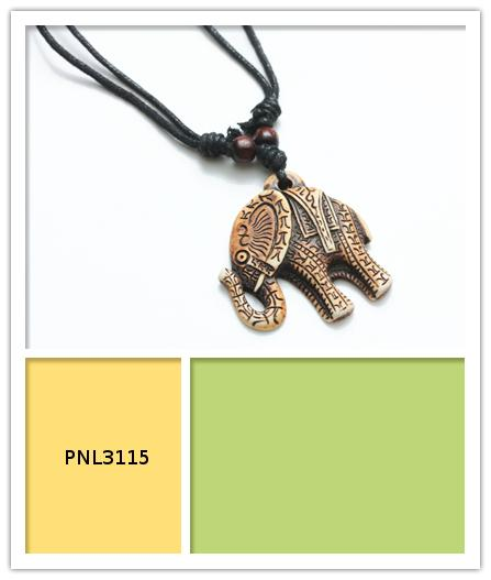 Black Cord Elephant Necklaces