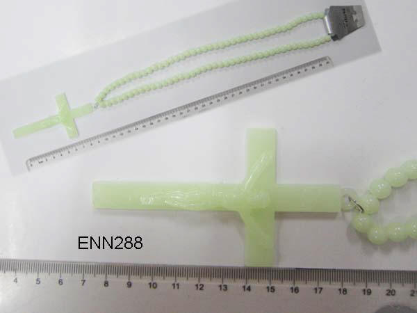 Glow in the dark cross necklace