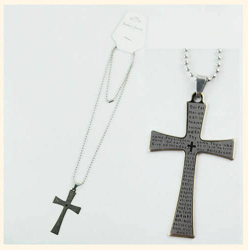 Stainless Steel Icon Religious Necklace