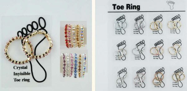 Sparkle Rhinestone Toe Rings