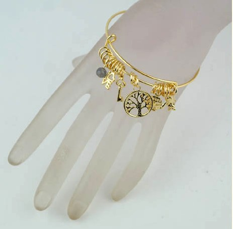Wire Charm Bangles