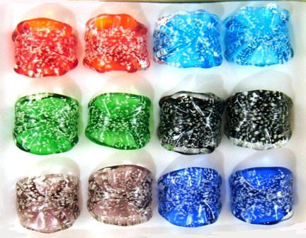 Glow in The Dark Glass Rings