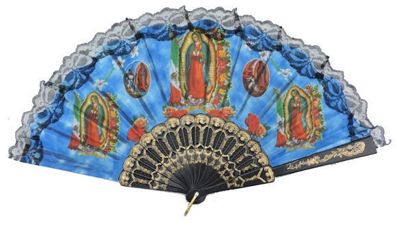 Black Religious Hand Fans