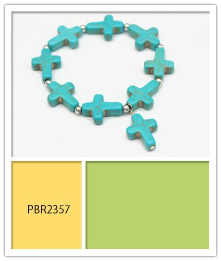 Nine Turquoise Cross Bracelets