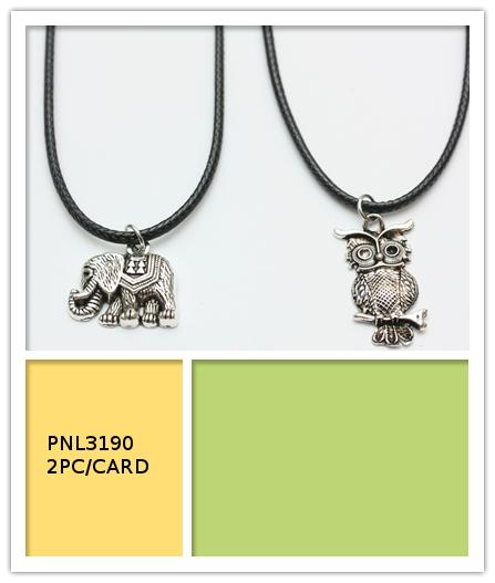Corded Owl Necklaces
