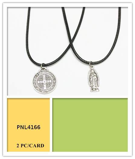 Saint Mary and Icon Corded Necklaces