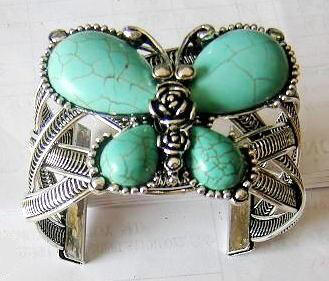 Butterfly Turquoise Bangle