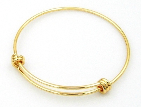 Resizable Gold Plated Stainless Steel Wire Bangles