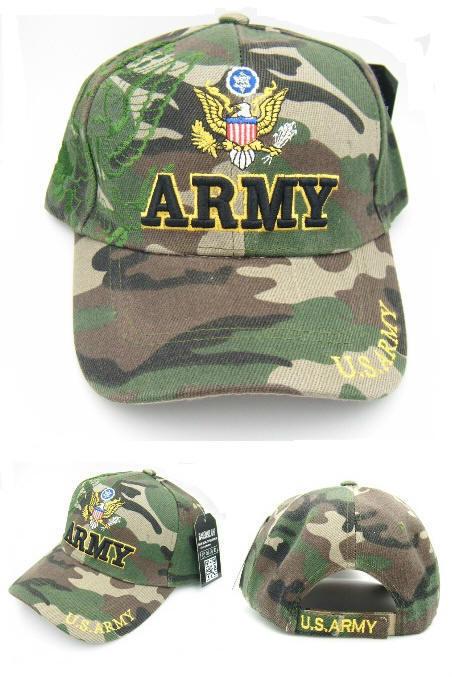 bf39f0625ae Camouflage U.S. Army Baseball Caps