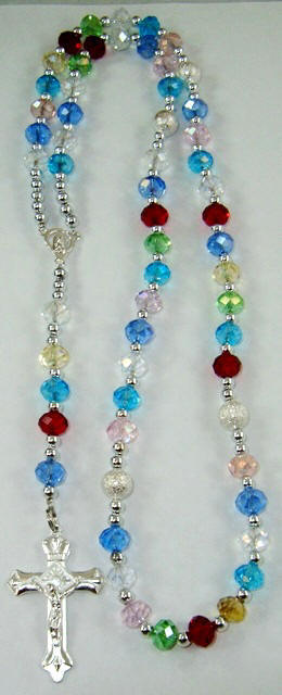 Multi Color Genuine Crystal Rosary