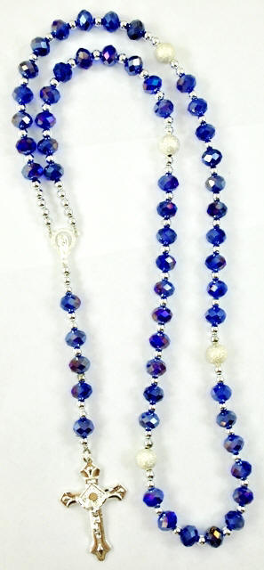 Blue Genuine AB Crystal Rosary