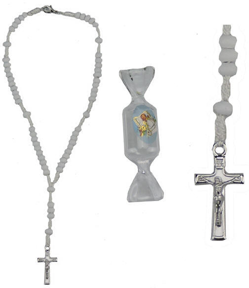 Whit Candy Boxed Baby Baptism Rosary