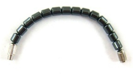 Drum Beads Hematite Extension