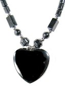 Non Magnetic Heart Hematite Necklaces