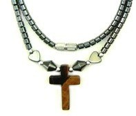Tiger Eye Cross Hematite Necklaces