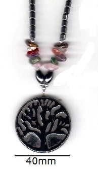 Tree of Life Hematite Necklaces