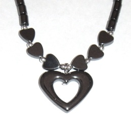 Heart Hematite Necklace