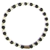 Pearl and Hematite Anklet