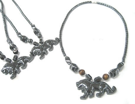 Lion Hematite Necklaces