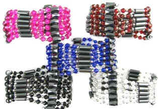 Wholesale Hematite Magnetic Wrap Bracelets