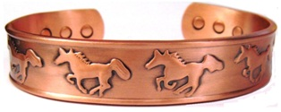 Running Horse Magnetic Copper Bangle