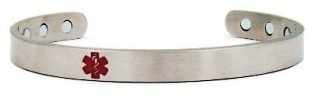 Magnetic Medical Alert Bangle Bracelet
