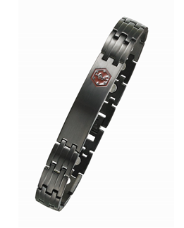 Black Medical ID Surgical 316 Stainless Steel Magnetic Bracelet