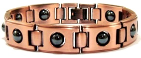 Hematite and Copper Link Magnetic Bracelets