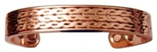 Heavy Wide Magnetic Copper Bangle