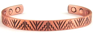 Tepee Copper Magnetic Bangle