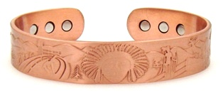 Chief Head Magnetic Copper Bangle