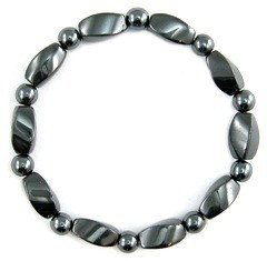 All Black Beads Magnetic Hematite Bracelets