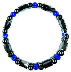 Navy Blue Magnetic Memory Wire Bracelets