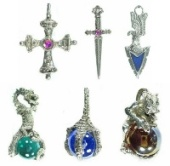 Pewter Jewelry - Pendants And Charms