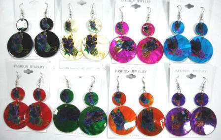 Assorted Color Shell Earrings