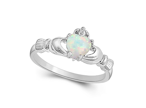 Sterling Silver Plated Opal Rings