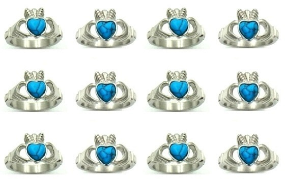 Stainless Steel Irish Claddagh Celtic Rings