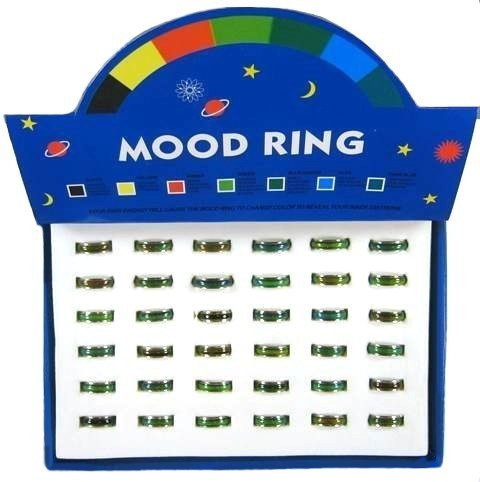 Wholesale Plain Mood Rings Change Color Fast