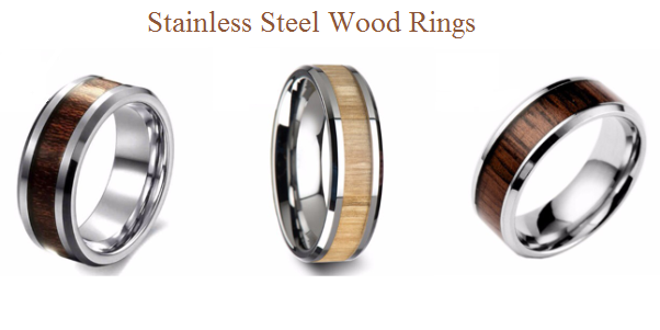 Stainless Steel Wood Rings
