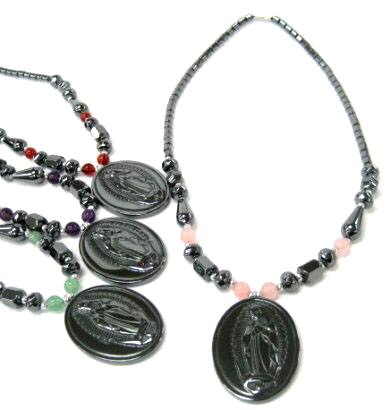 Saint Mary Hematite Necklaces