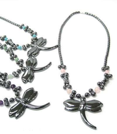 Dragonfly Hematite Necklaces