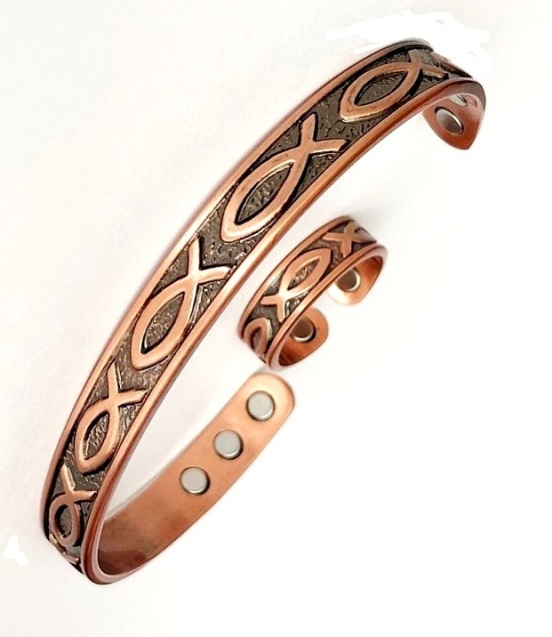 Magnetic Copper Bangles And Magnetic Copper Ring